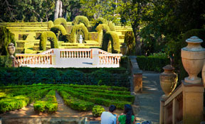 Romantic garden at the Parc del Laberint (Maze Park) in Barcelona