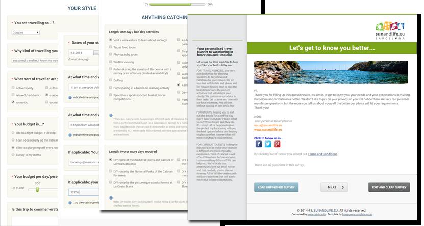 Our online questionnaire