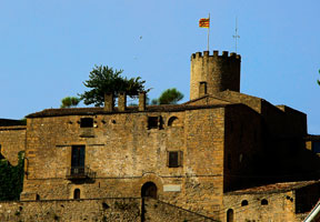 The castle of Talamanca in the county of Bages