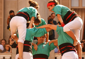 Castells, or human towers, an experience unique to Catalonia