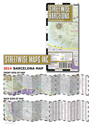STREEWISE MAP OF BARCELONA